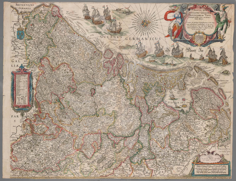 The map of the Netherlands from the fourth volume of Joan Blaeu's Atlas Maior.<br />