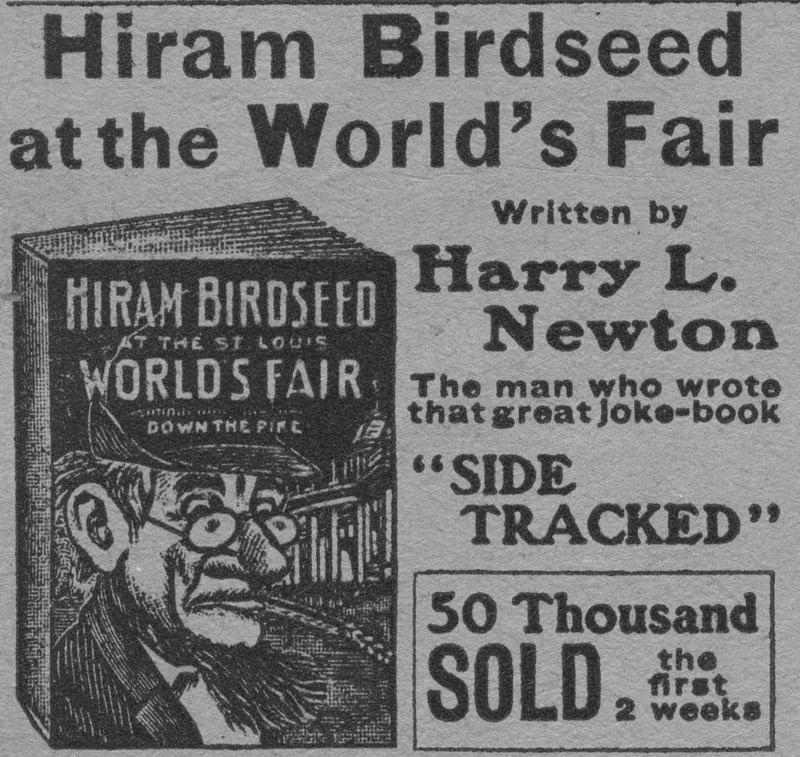 [Hiram Birdseed advertisement]