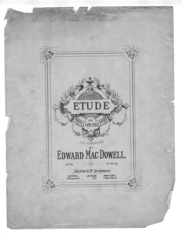 Etude de concert : for pianoforte : op. 36