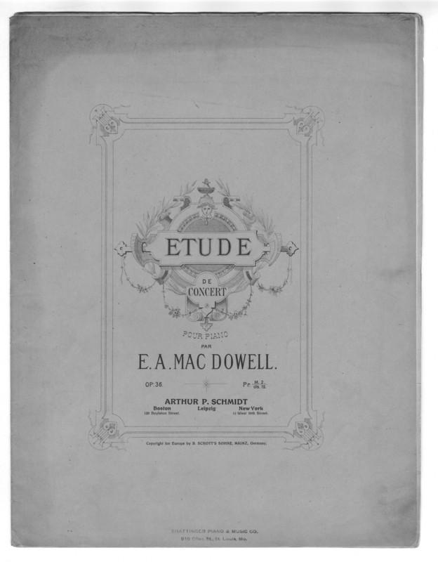 Etude de concert : pour piano : op. 36.