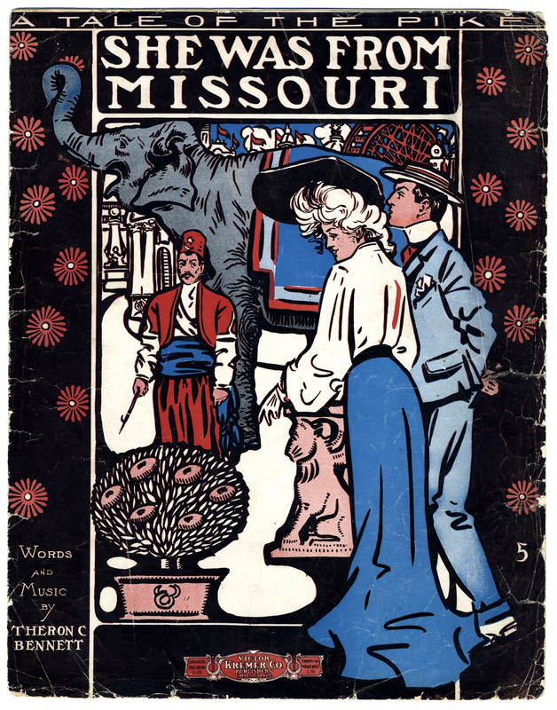 She was from Missouri : a tale of the Pike / words and music by Theron C. Bennett.