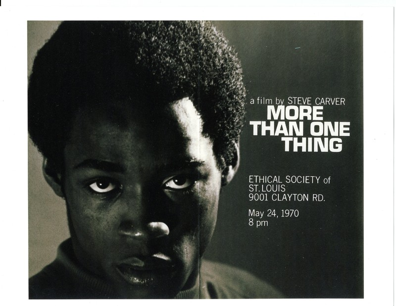 """Promotional poster for """"More Than One Thing"""""""