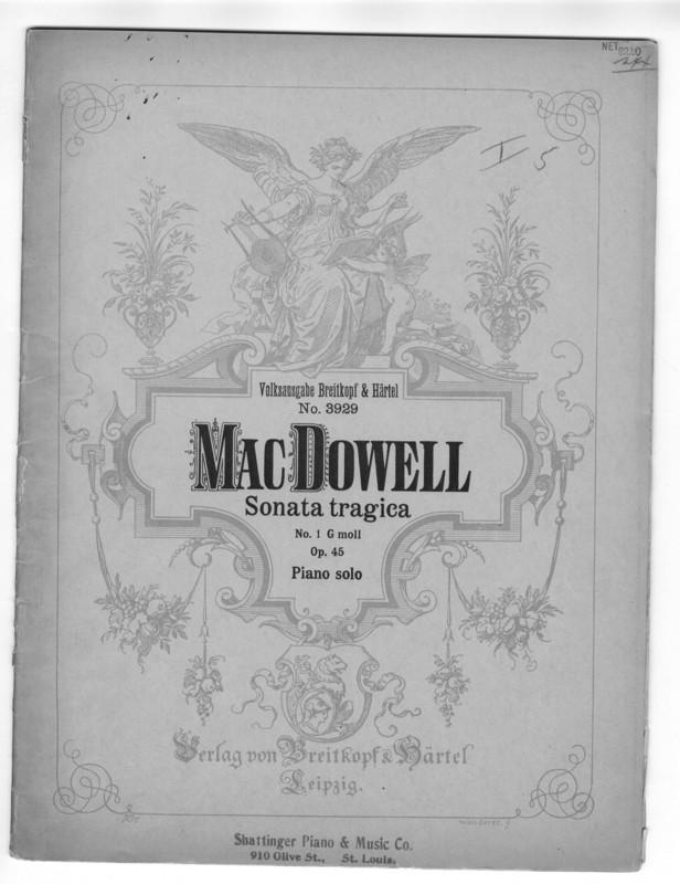 Sonata tragica : Nr. 1, G Moll : für Pianoforte zu zwei Händen : op. 45