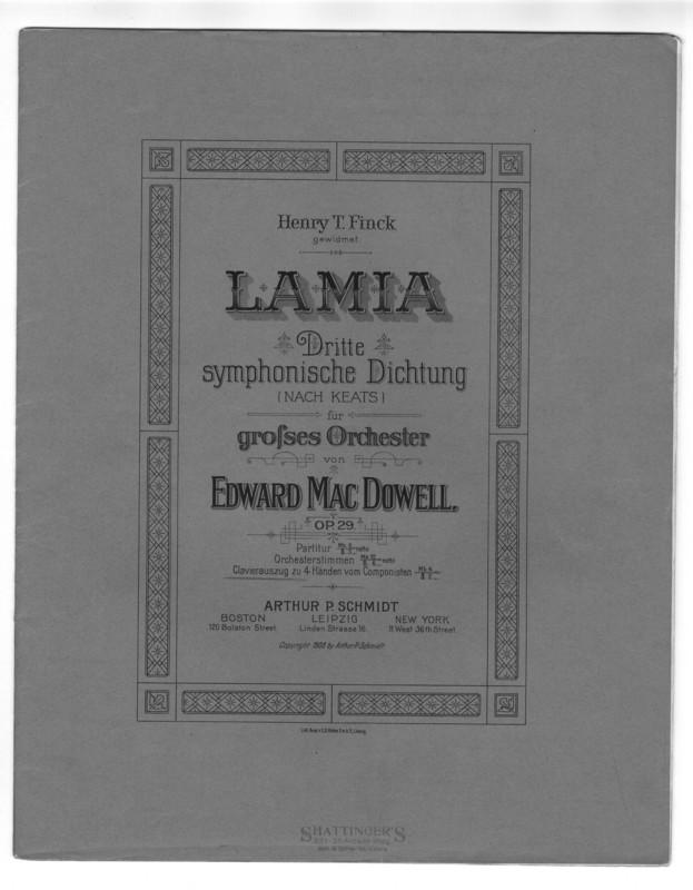 Lamia : dritte symphonische Dichtung (nach Keats) : für grosses orchester