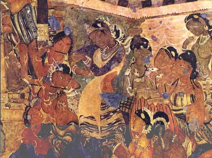 Ajanta Cave Painting: Maha-janaka Jataka Tale, Cave 1