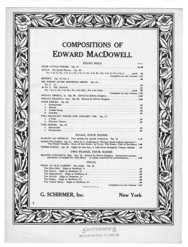 Six poems after Heinrich Heine. Scotch