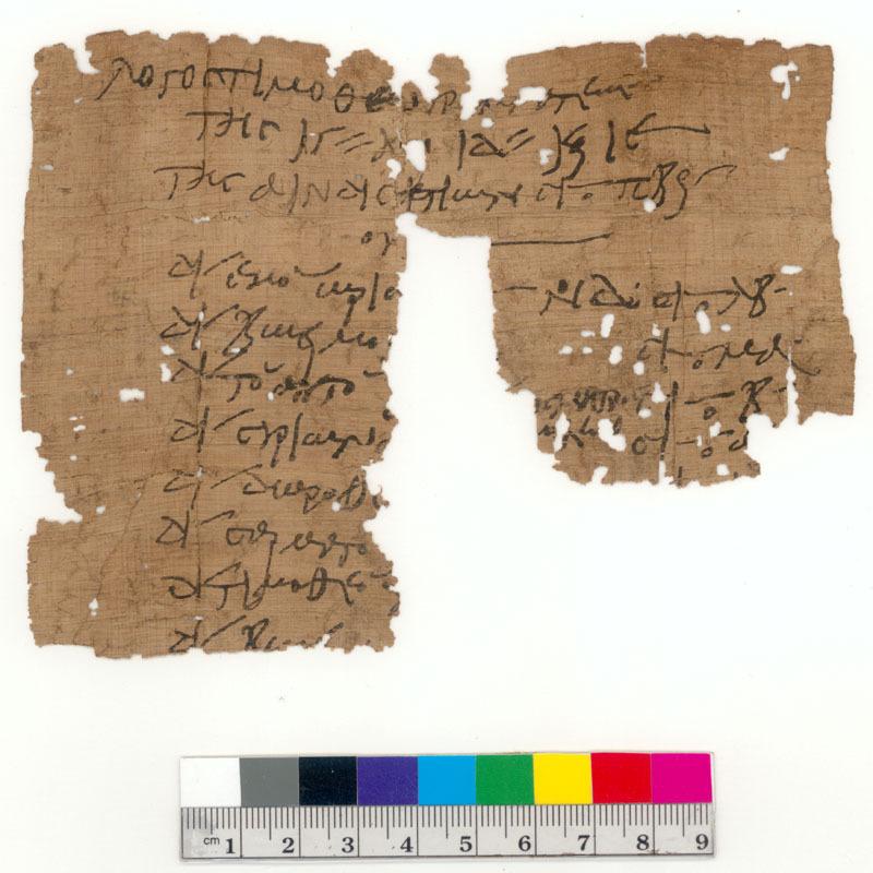 Account of Timotheos, Scribe
