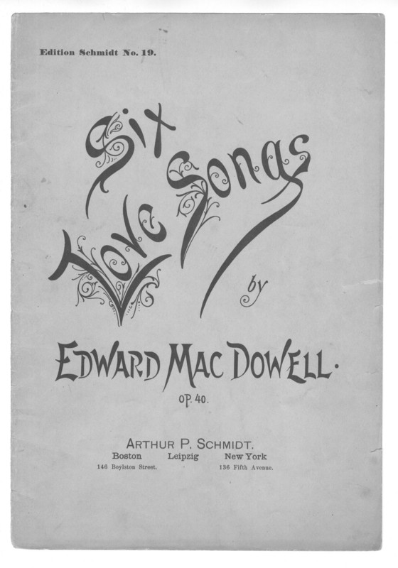Six love songs : op. 40