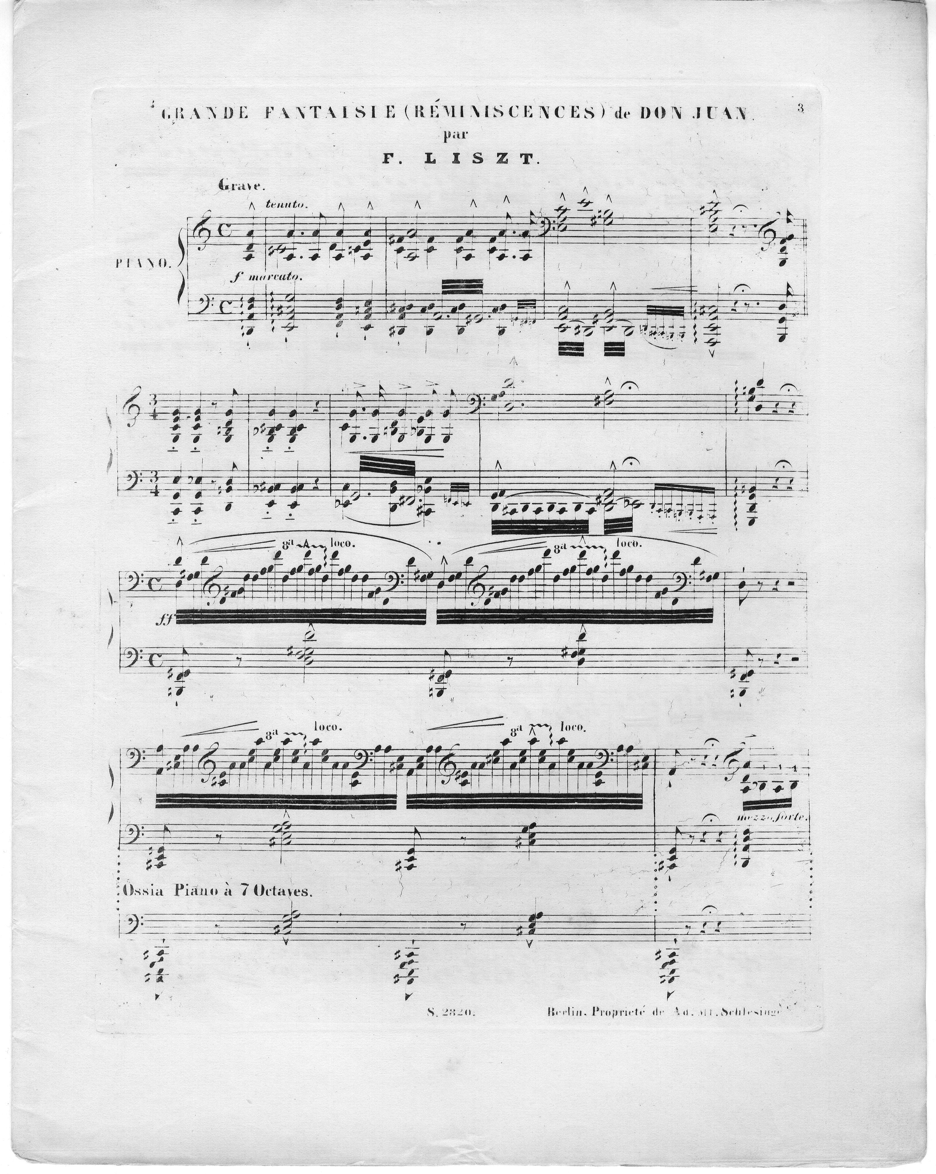 Grande fantaisie (réminiscences) de Don Juan [by W  A