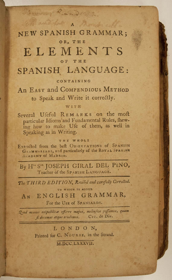 A new Spanish grammar: or, The elements of the Spanish