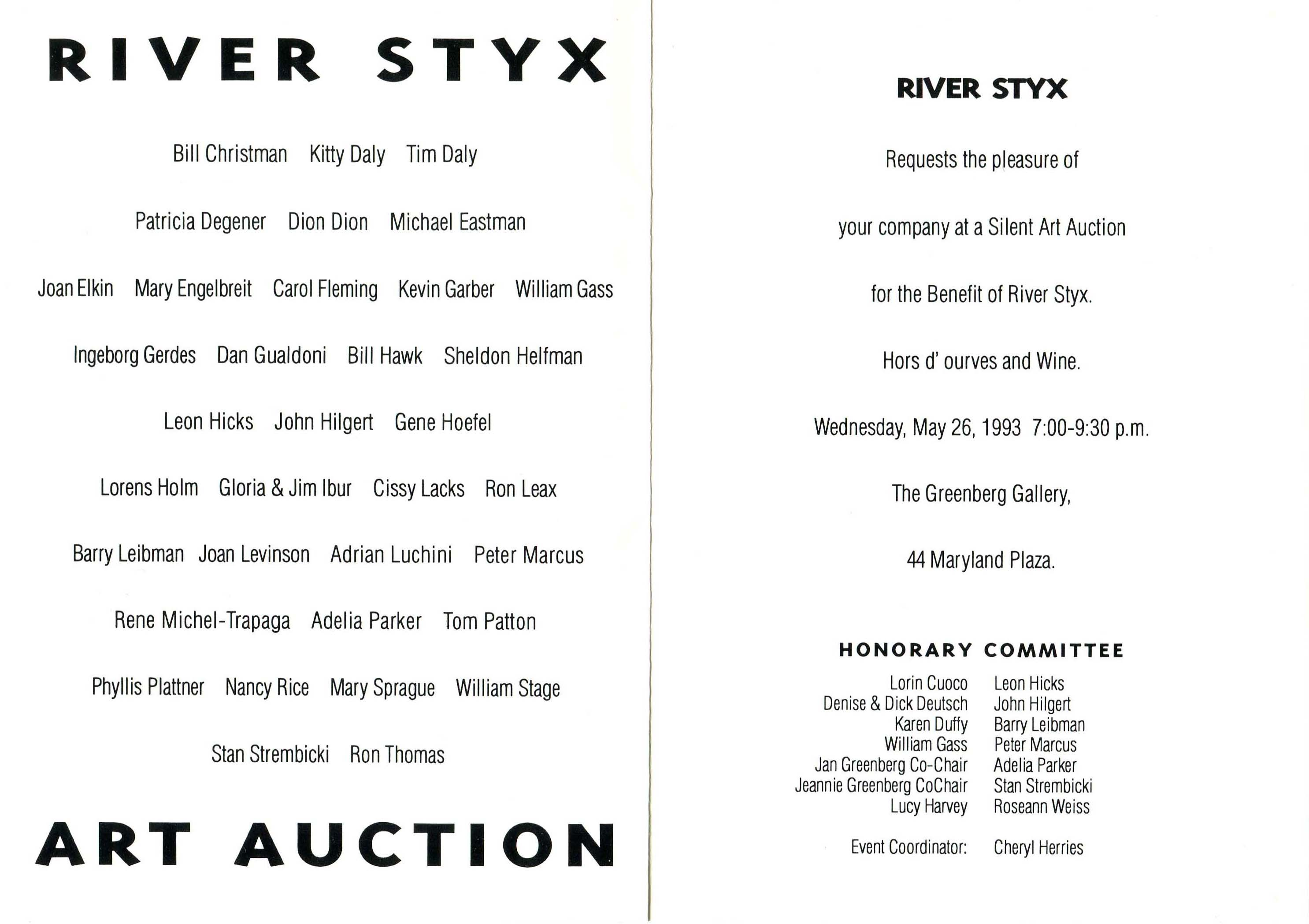 silent auction invitation