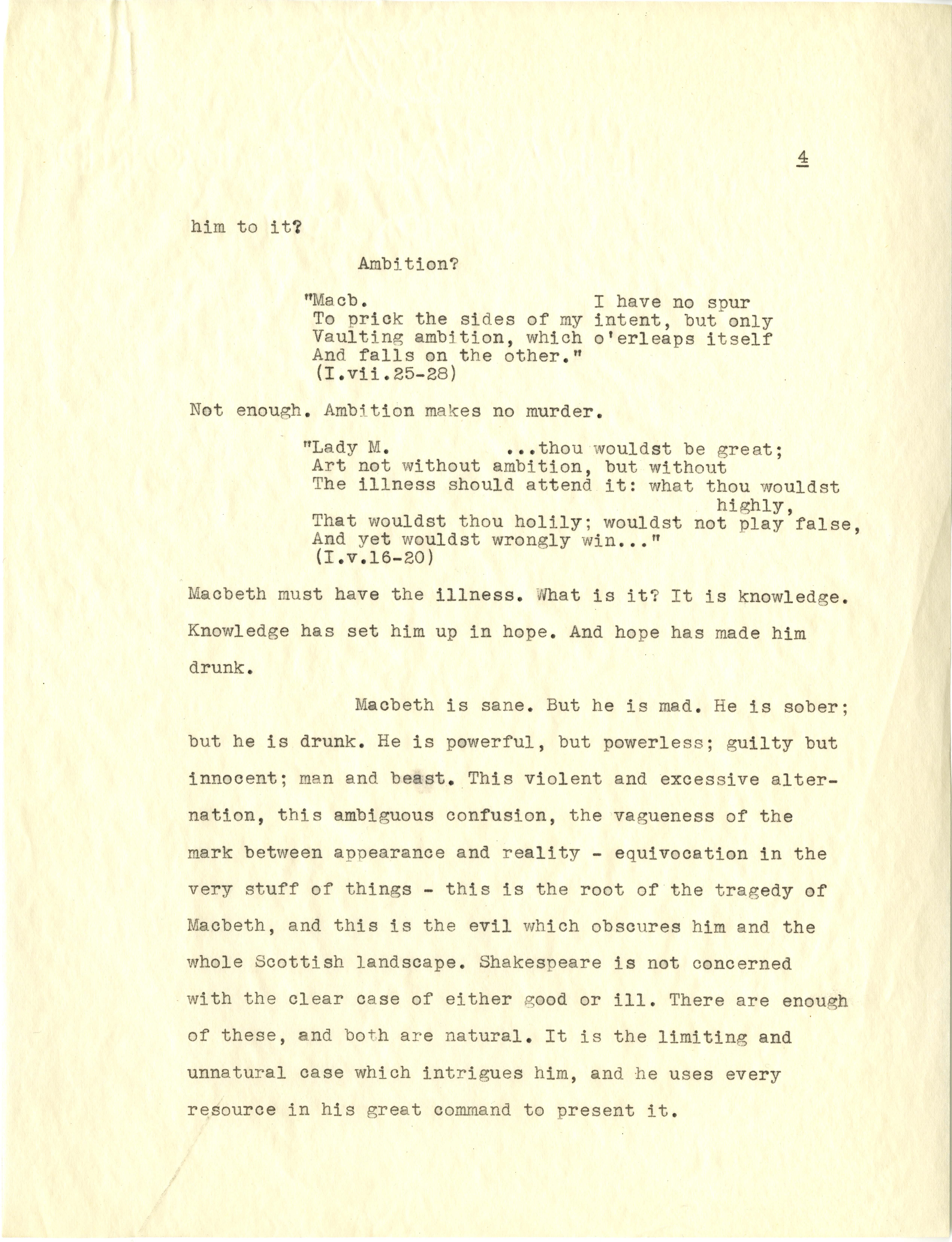 equivocation macbeth essay