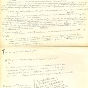 """Toy Beer"" - Manuscript Draft Fragments"