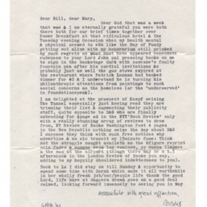 Typed letter signed from William Gaddis to William H. Gass, February 6, 1994