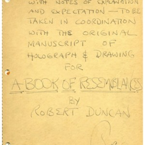 Illustrator's Dummy for <em>A Book of Resemblances</em> by Robert Duncan and Jess