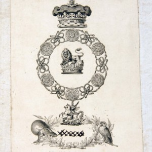 Bookplate of Augustus Frederick, Prince, Duke of Sussex