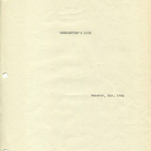 Typescript outline and notes for <em>Omensetter's Luck</em> revised version, March 1954