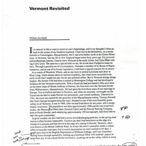 "Proof of ""Vermont Revisited"" by William Jay Smith."