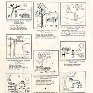 Clipping of James Merrill's first published poem from <em>Junior Home Magazine</em>, November 1934