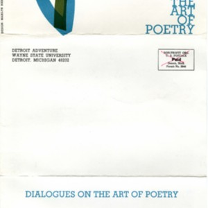 """Detroit Adventure and the Academy of American Poets Presents Dialogues on the Art of Poetry"""
