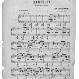 Bamboula : danse des Negres : Op. 2 /