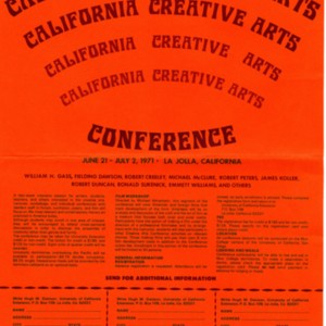 """University of California Extension, San Diego Announces California Creative Arts"""