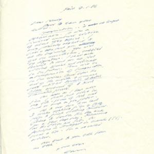"<p class=""p1"">Samuel Beckett letter to Henry Wenning, 1966: January 9</p>"