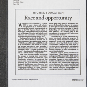 """Higher Education: Race and opportunity"""