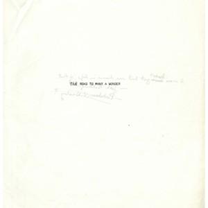 <em>The Road to Many a Wonder</em> by David Wagoner