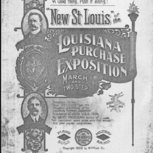 """New St. Louis"", or, The Louisiana Purchase Exposition : march and two step / by Bert Morgan."