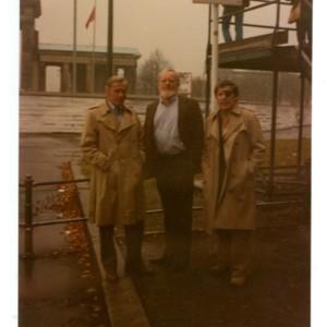 William Gaddis, Donald Barthelme, and Walter Abish in West Berlin, Germany
