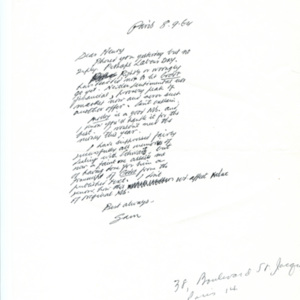 "<p class=""p1"">Samuel Beckett letter and telegram to Henry Wenning</p>"