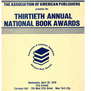 """Thirtieth Annual National Book Awards,"" April 25, 1979"