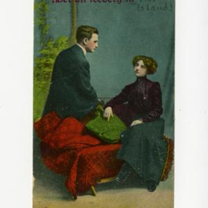 James Merrill postcardto David Jackson<br />