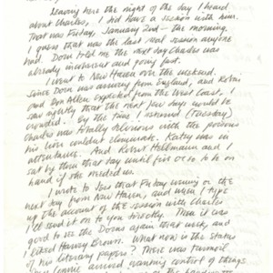 Autograph letter, signed from Robert Duncan to Robert Creeley, February 4, 1970