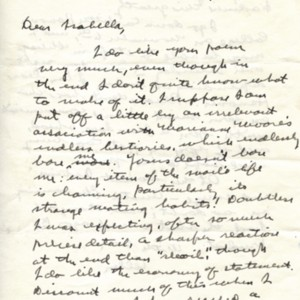Autograph letter, signed from Allen Tate to Isabella Gardner, October 12, 1957