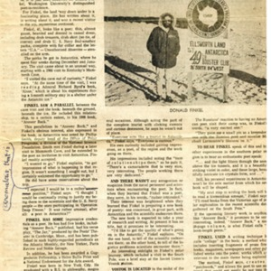 """A Poet in Antarctica"" by Dean Rebuffoni from the <em>St. Louis Globe-Democrat</em>, March 7-8, 1970"