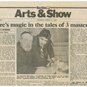 """There's Magic in the Tales of 3 Masters"" by Hedy Weiss from the <em>Chicago Sun-Times</em>, March 10, 1988"