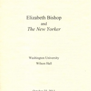 """Elizabeth Bishop and <em>The New Yorker</em>"""