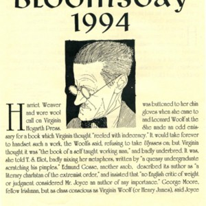 Celebration of Bloomsday by the International Writers Center, June 16,1994