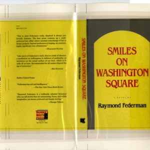 Dust jacket mock-up of <em>Smiles on Washington Square</em> by Raymond Federman