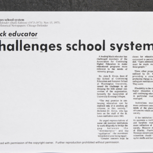 """Black educator challenges school system"""