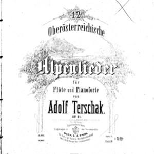 12 Oberösterreichische Alpenlieder : für Flöte und Pianoforte : op. 81. Heft II / von Adolf Terschak.
