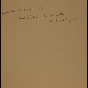 """""""Dear Elizabeth"""" by May Swenson"""