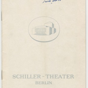 <span>Program for the 1965 Production of Waiting for Godot at the Schiller-Theater, Berlin. Berlin: 1965</span>