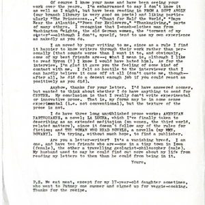 Typed letter [carbon]  from Constance Urdang to Carol Berge, May 21, 1976