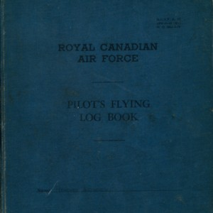 Howard Nemerov's Royal Canadian Air Force pilot's flying log book