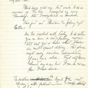 Autograph letter, signed from Charles Olson to Robert Creeley