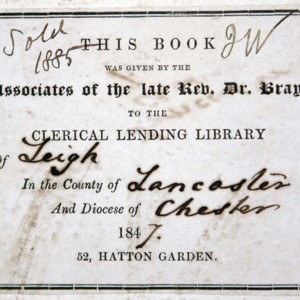 Bookplate of the Associates of Dr. Bray Library