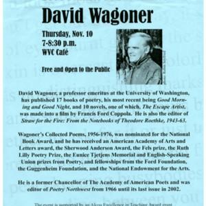 """2006 Pulitzer-Prize Nominee David Wagoner"""